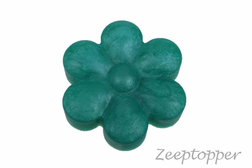 zeep bloem (Z-0030BZP) zeegroen parelmoer