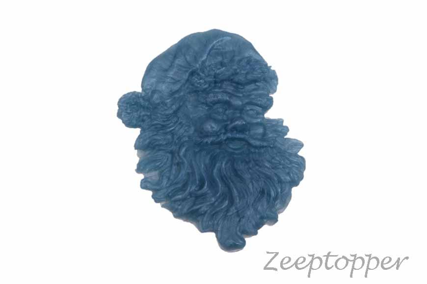 zeep kerstman (Z-0144DP) blauw parelmoer
