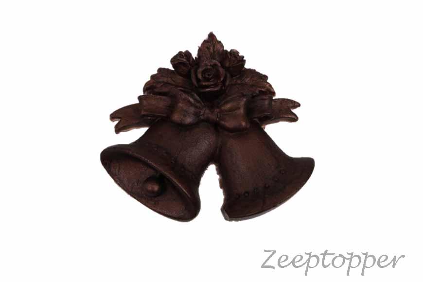 zeep kerstklokken (Z-0161RP) bruin parelmoer