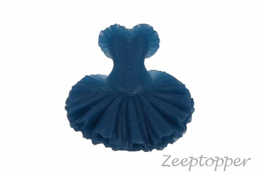 zeep dansjurk (Z-0163J) donkerblauw