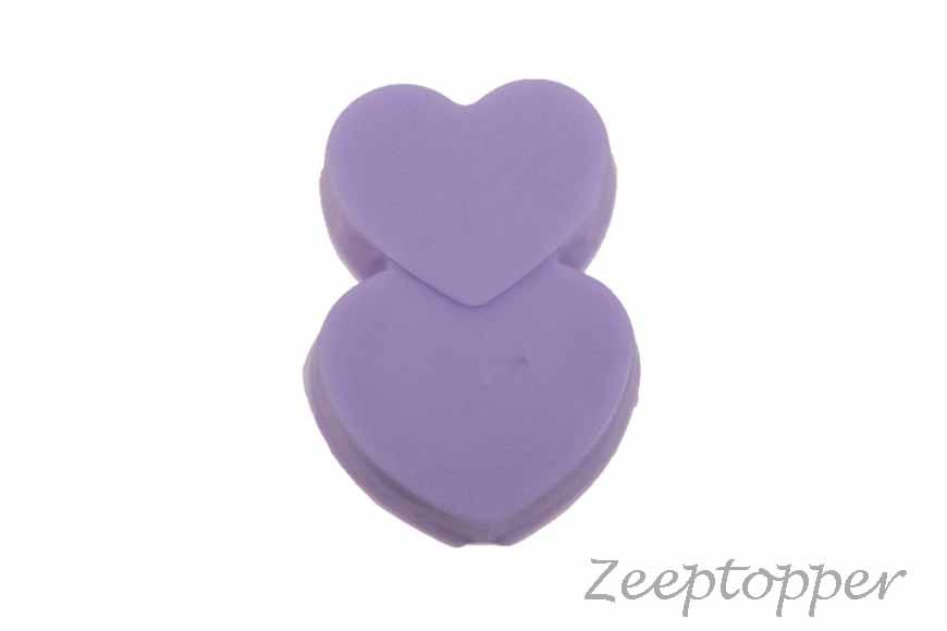 zeep hartjes (Z-0203F) paars