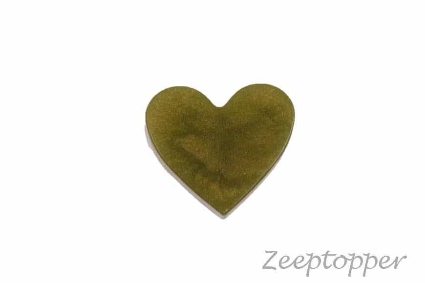 zeep hartje (Z-0416BOP) olijfgroen parelmoer