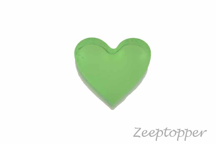 zeep hartje (Z-0416BT) groen transparant