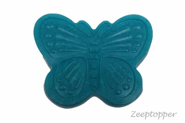 zeep vlinder (Z-0433TP) turquoise parelmoer