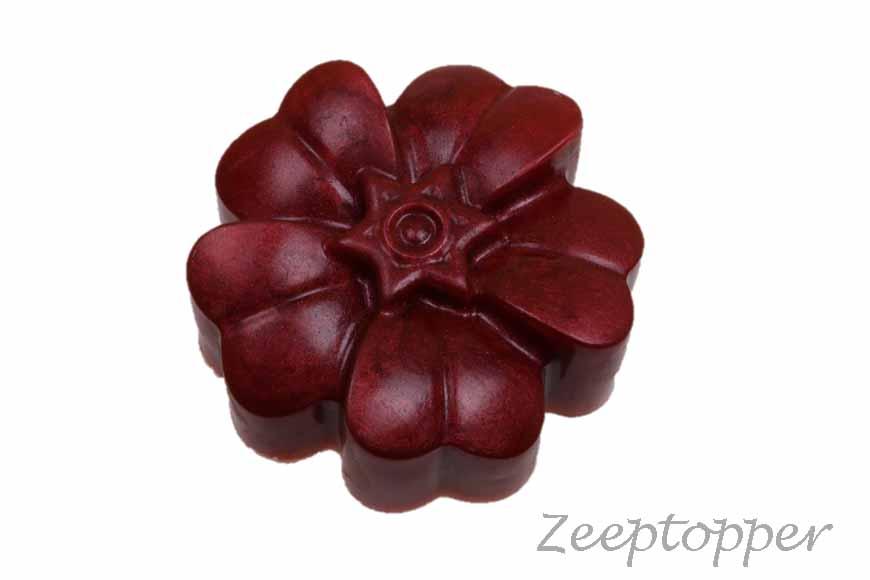 zeep bloem (Z-0445CPD) donkerrood parelmoer