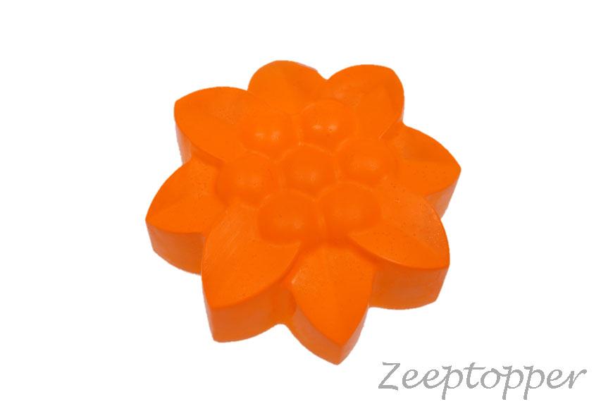 zeep bloem (Z-0447MT) oranje transparant