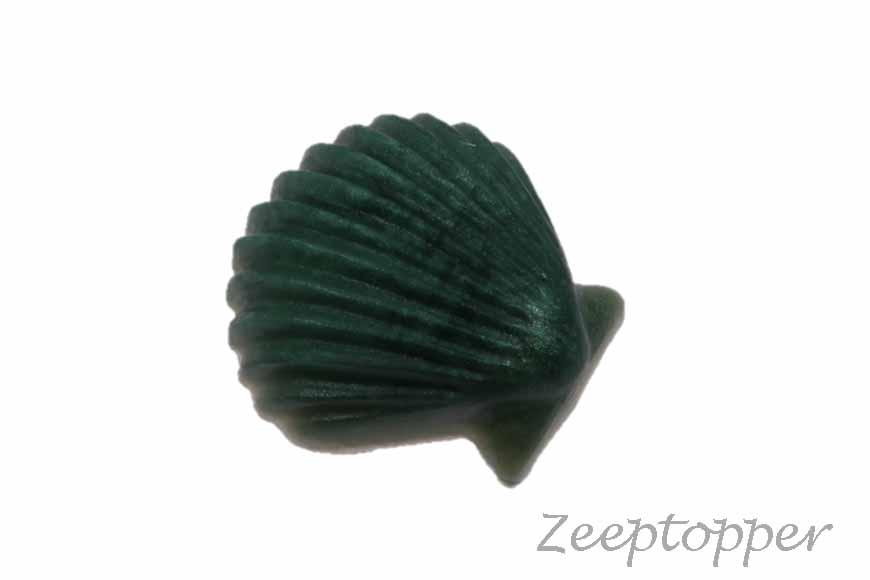 zeep schelp (Z-0453BPD) donkergroen parelmoer