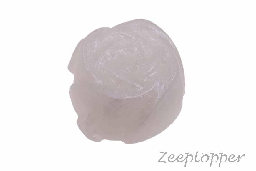 zeep bloem (Z-0458AP) wit parelmoer