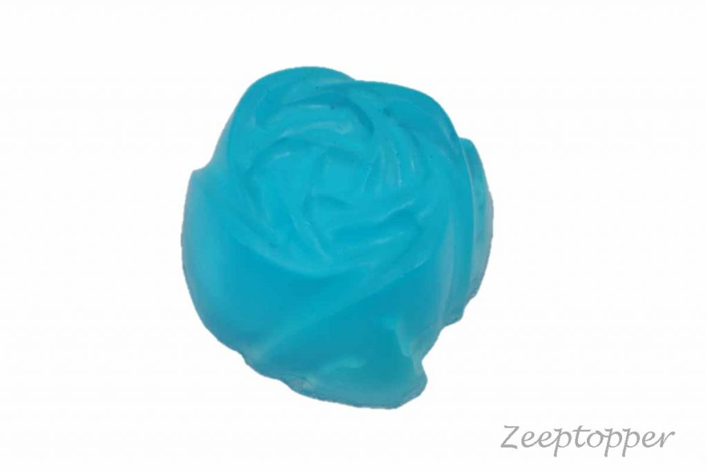 zeep bloem (Z-0458DT) blauw transparant