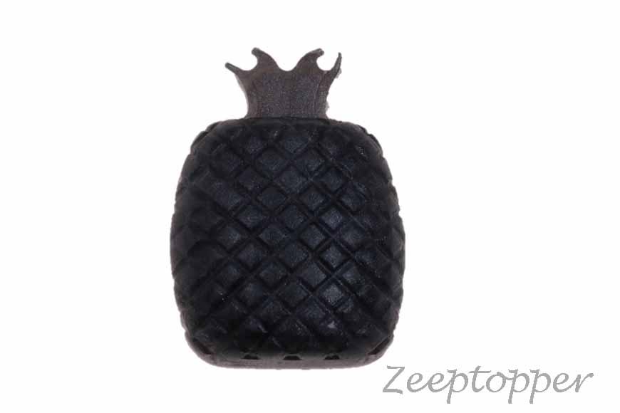 zeep ananas (Z-0460KL) zilverzwart parelmoer