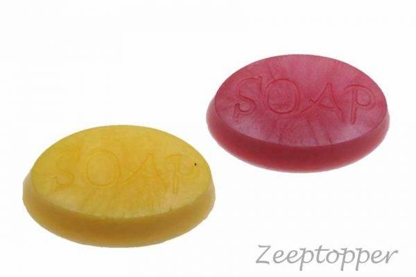 zeep ovaal met tekst (Z-1407)