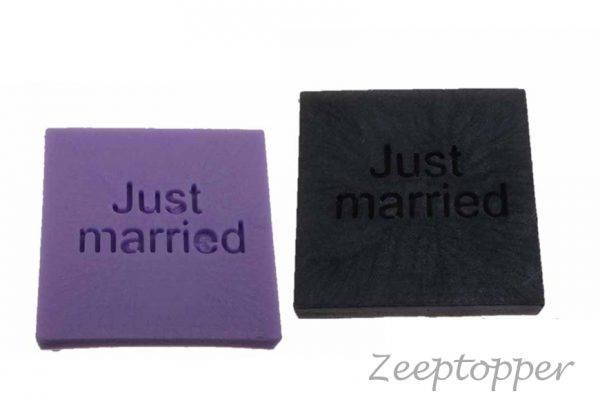 zeep vierkant met tekst (Z-1446)