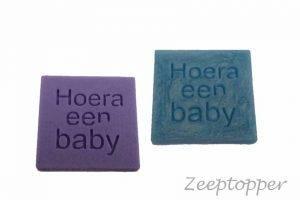 zeep vierkant met tekst (Z-1452)