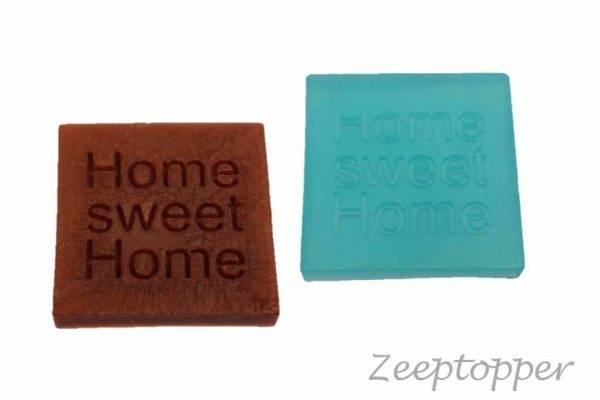 zeep vierkant met tekst (Z-1456)