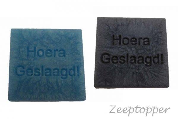 zeep vierkant met tekst (Z-1457)