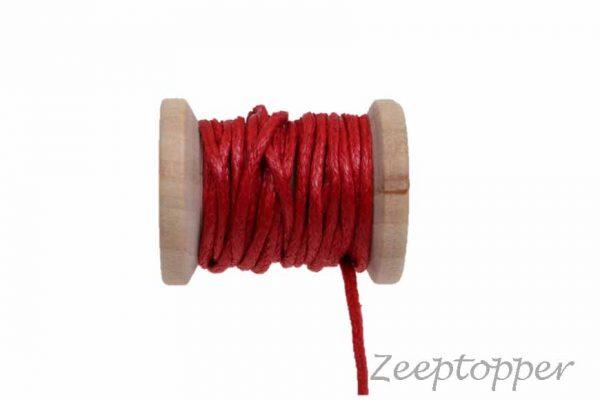 DW-0003 waxkoord - katoendraad rood