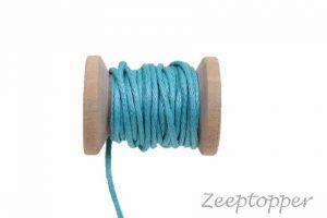 DW-0004 waxkoord - katoendraad blauw