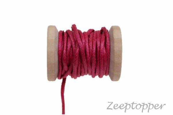 DW-0005 waxkoord - katoendraad roze