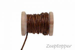 DW-0006 waxkoord - katoendraad bruin