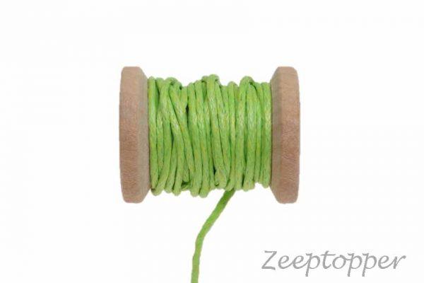 DW-0010 waxkoord - katoendraad groen