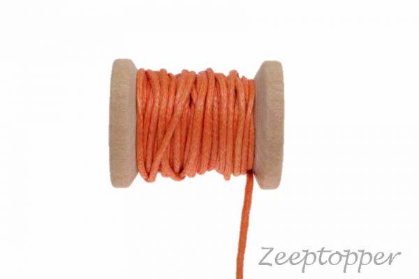 DW-0015 waxkoord - katoendraad oranje