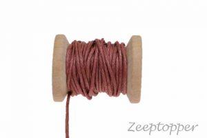 DW-0025 waxkoord - katoendraad bruin