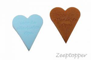 zeep hart met tekst (Z-1458)