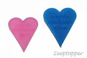 zeep hart met tekst (Z-1459)
