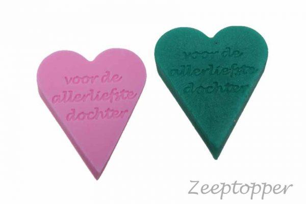 zeep hart met tekst (Z-1461)