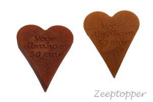 zeep hart met tekst (Z-1464)