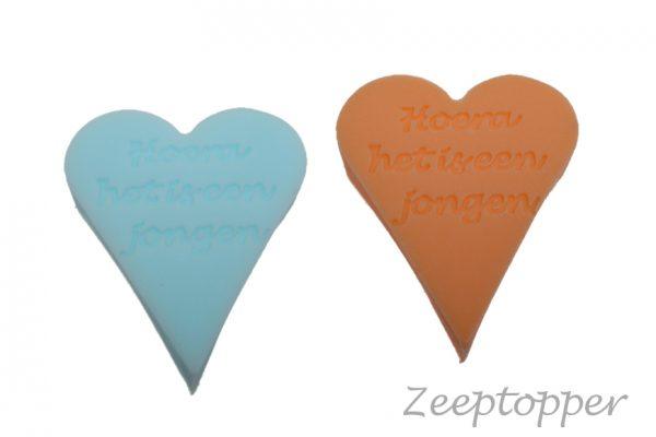 zeep hart met tekst (Z-1466)