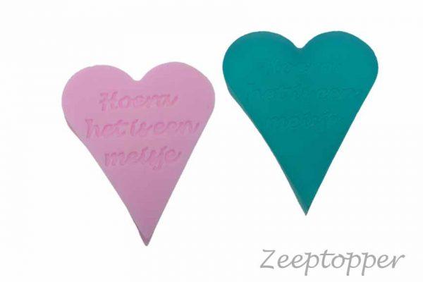 zeep hart met tekst (Z-1467)